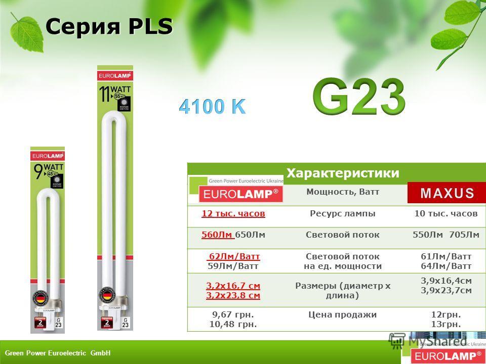 Характеристики 9W 11WМощность, Ватт9W 11W 12 тыс. часовРесурс лампы10 тыс. часов 560Лм 650ЛмСветовой поток550Лм 705Лм 62Лм/Ватт 59Лм/Ватт Световой поток на ед. мощности 61Лм/Ватт 64Лм/Ватт 3,2х16,7 см 3,2х23,8 см Размеры (диаметр х длина) 3,9х16,4см