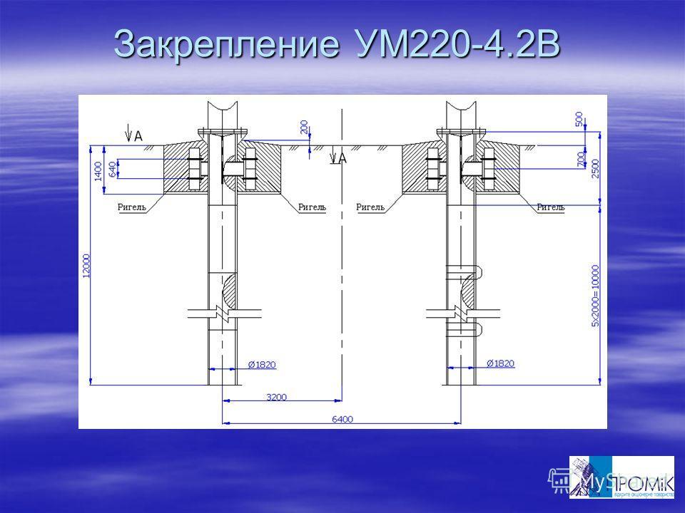 Закрепление УМ220-4.2В