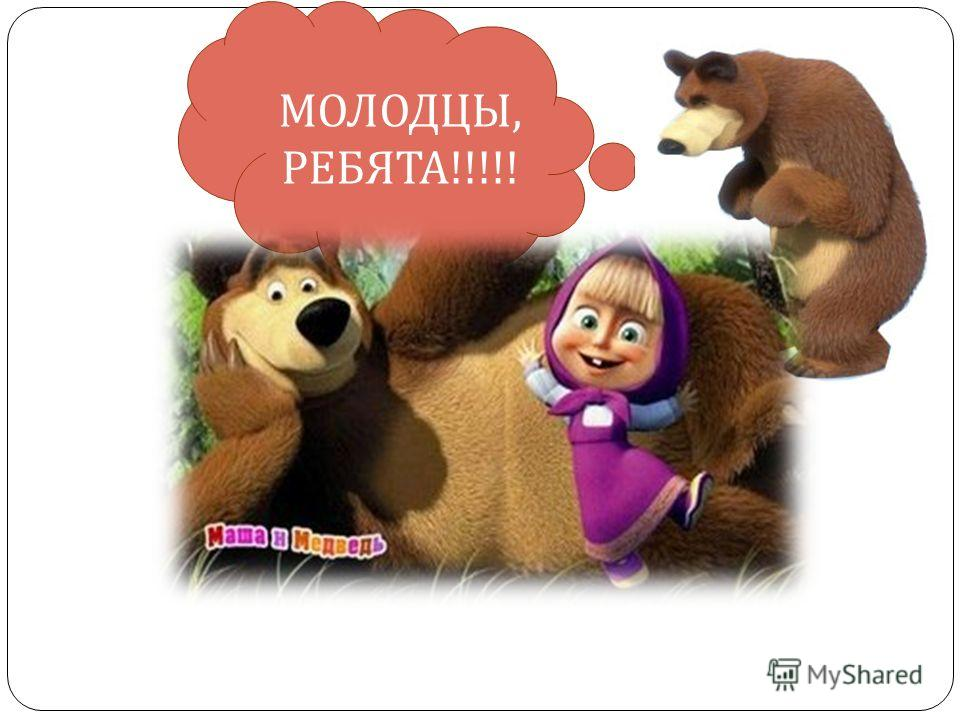 МОЛОДЦЫ, РЕБЯТА !!!!!