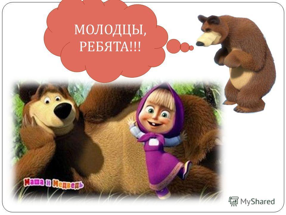 МОЛОДЦЫ, РЕБЯТА !!!