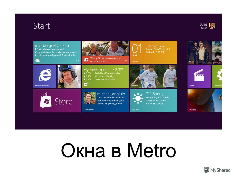 Окна в Metro