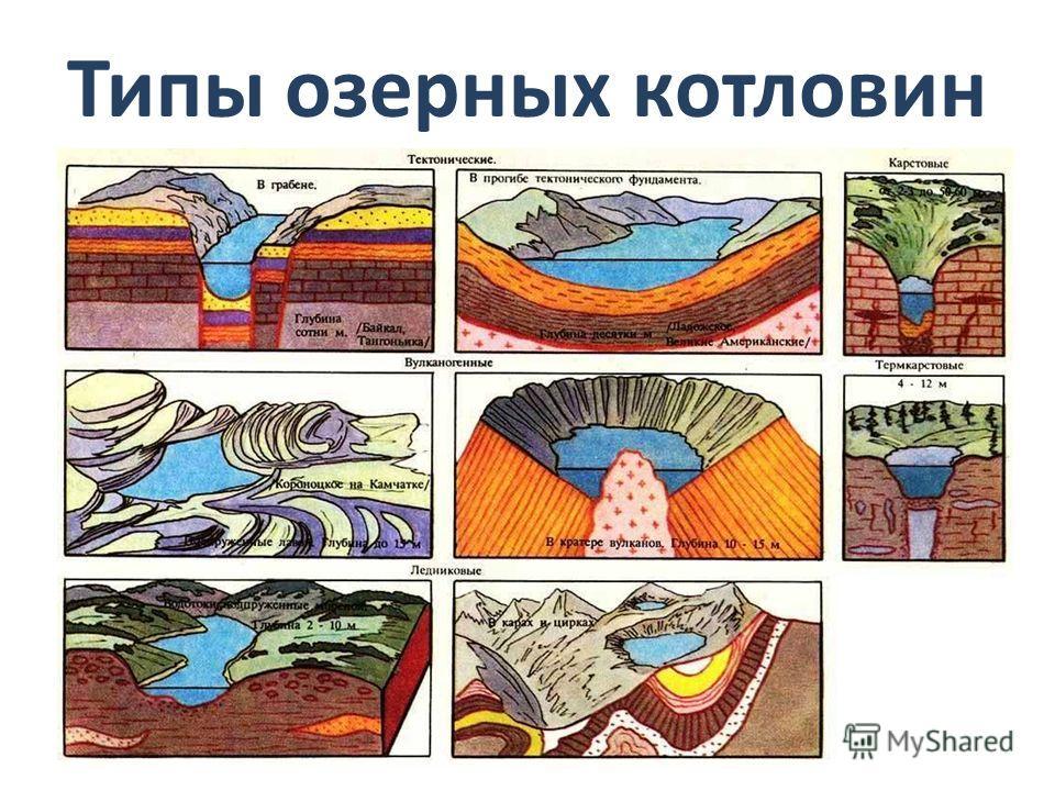 Озёрная котловина – углубление, в котором находится озеро.