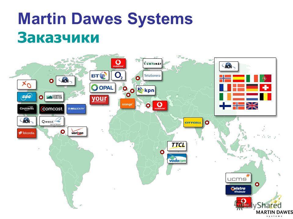 Martin Dawes Systems Заказчики