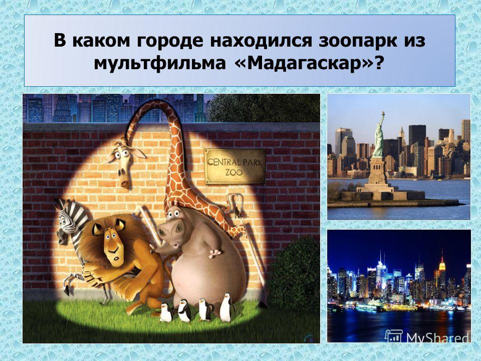 В каком городе находился зоопарк из мультфильма «Мадагаскар»?