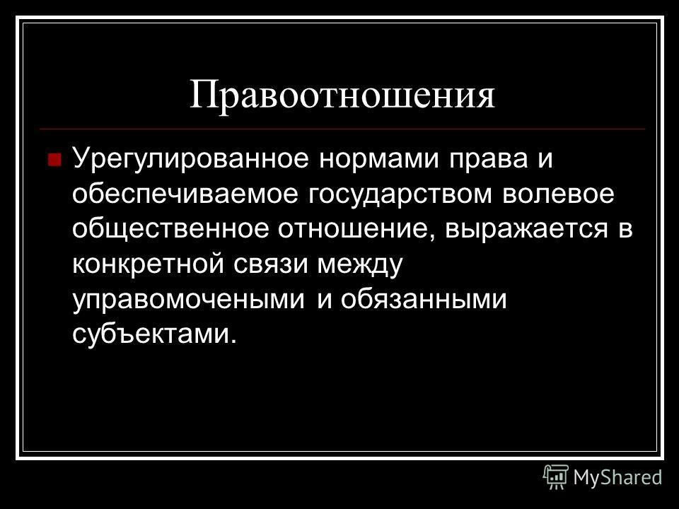 Презентация по теме «Особенности правоотношения» Выполнила: Бутусова Анастасия 602-11