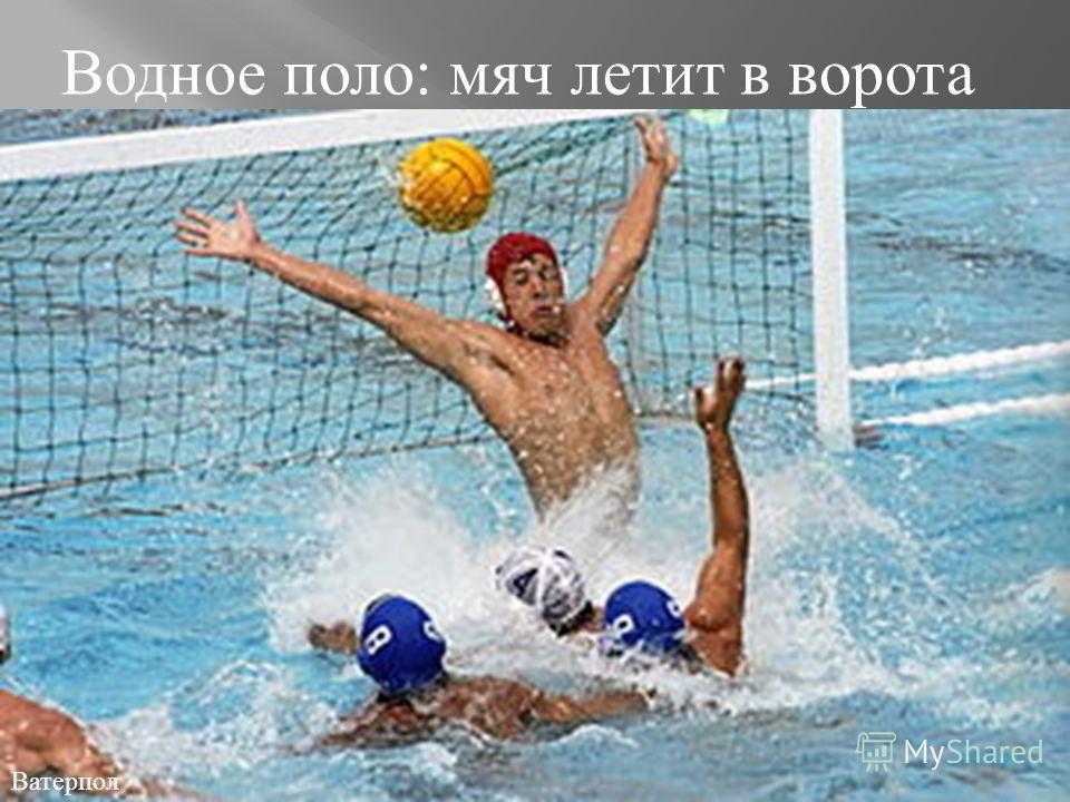 Водное поло : мяч летит в ворота Ватерпол