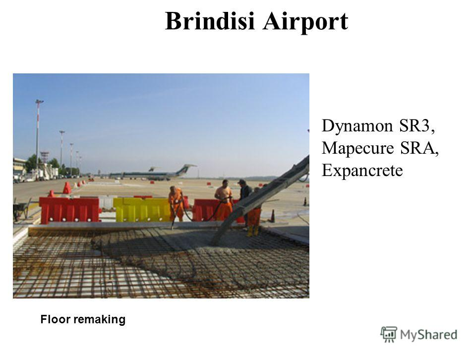 Brindisi Airport Dynamon SR3, Mapecure SRA, Expancrete Floor remaking
