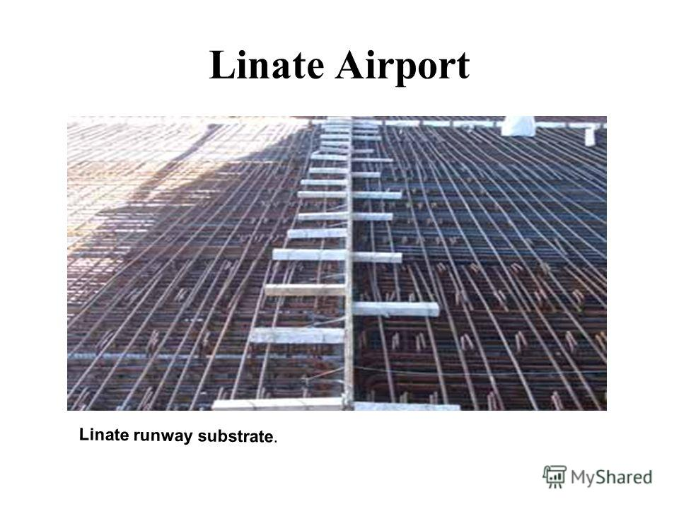 Linate Airport Linate runway substrate.
