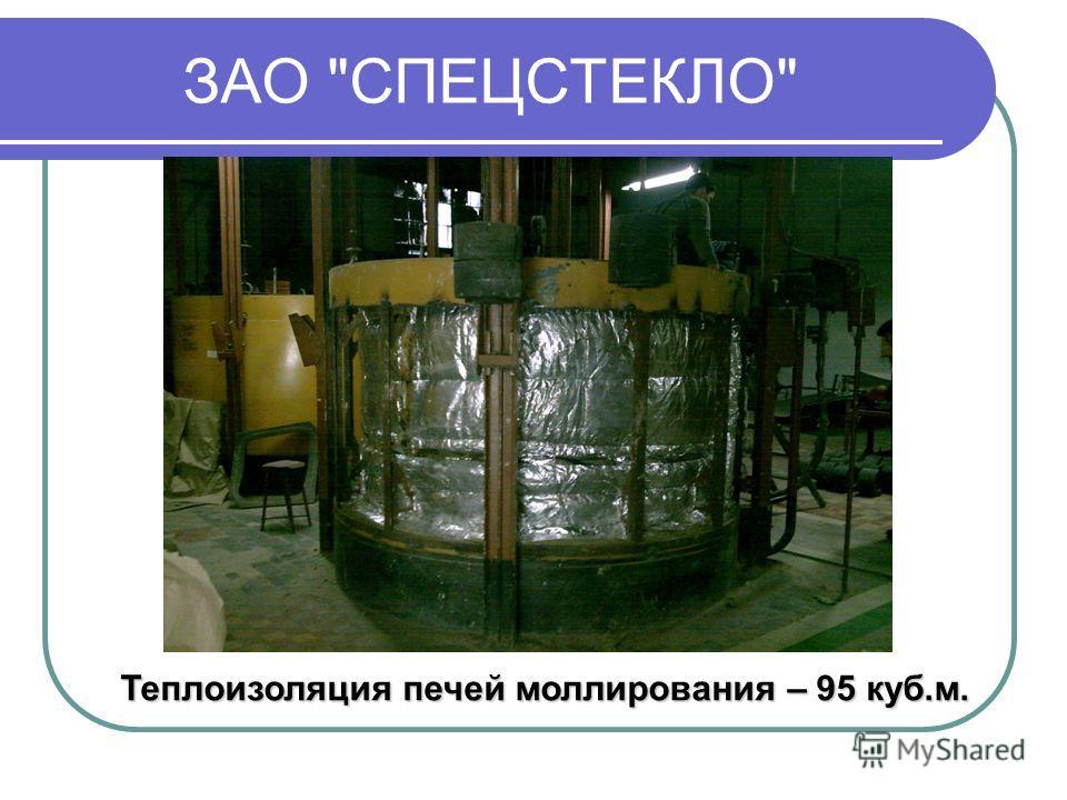 ЗАО СПЕЦСТЕКЛО Теплоизоляция печей моллирования – 95 куб.м.