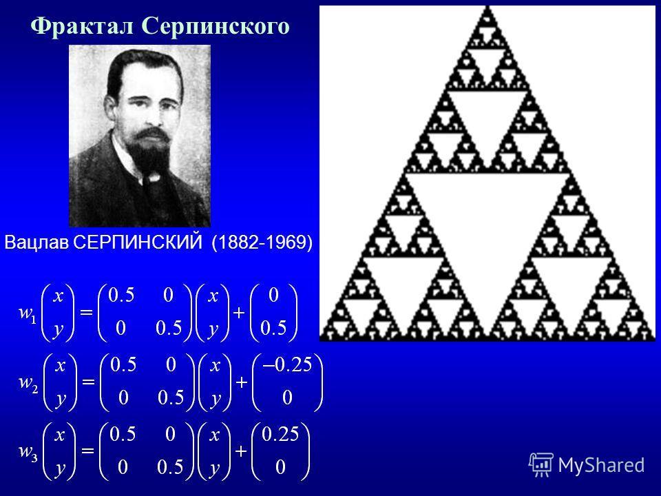 Фрактал Серпинского Вацлав СЕРПИНСКИЙ (1882-1969)