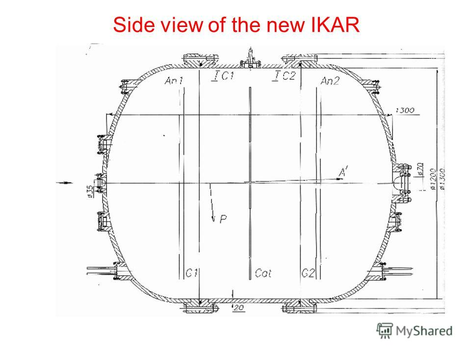 Side view of the new IKAR