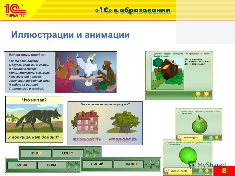 8 Иллюстрации и анимации