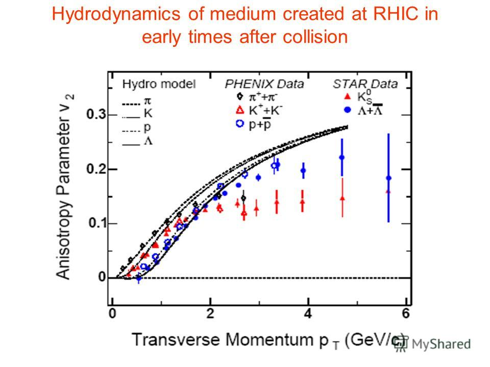 Hydrodynamics of medium created at RHIC in early times after collision