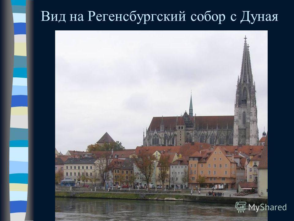 Вид на Регенсбургский собор с Дуная