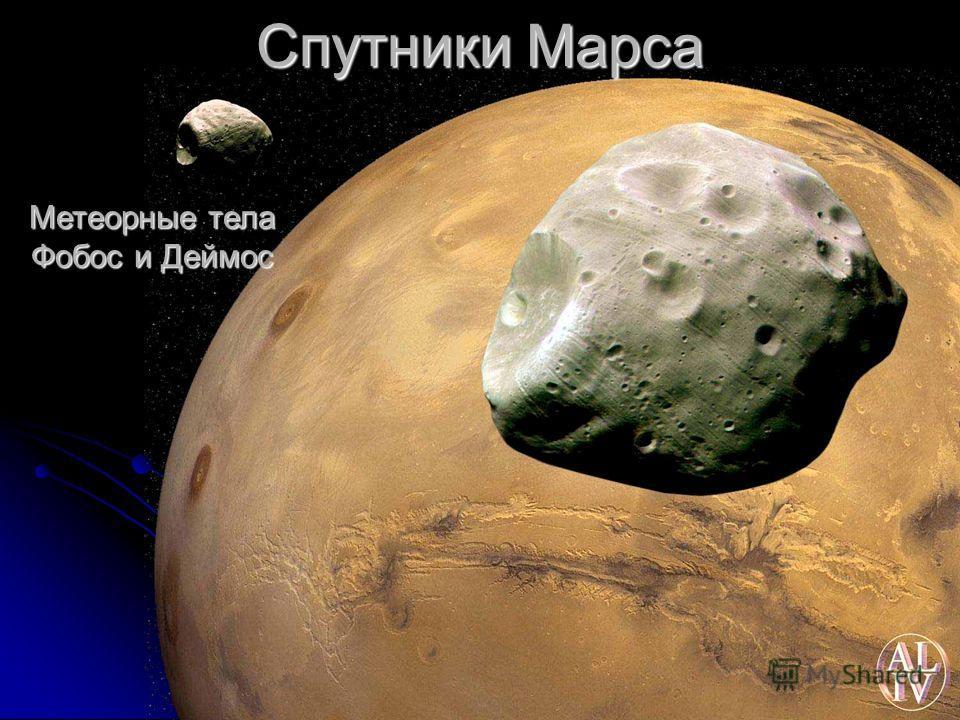 Спутники Марса Метеорные тела Фобос и Деймос
