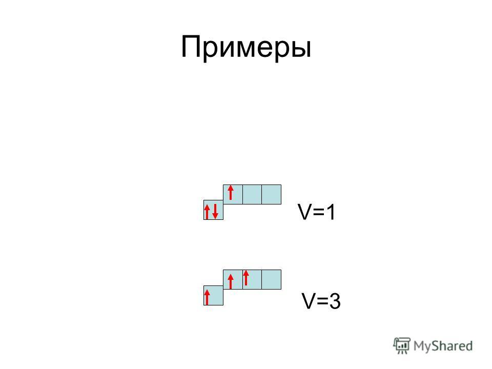 Примеры V=3 V=1
