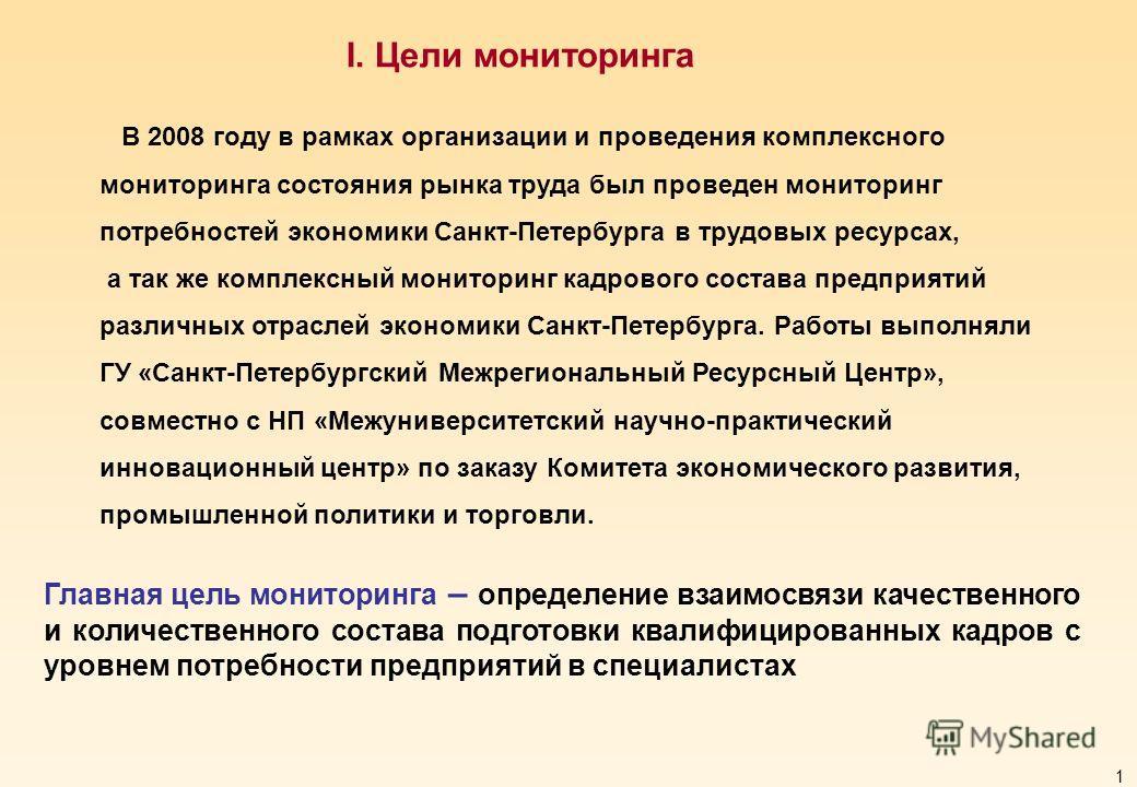 0 Мониторинг потребностей экономики Санкт-Петербурга в трудовых ресурсах Санкт-Петербург 2009