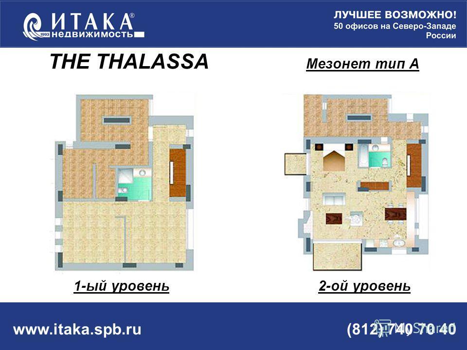 www.itaka.spb.ru (812) 740 70 40 THE THALASSA Мезонет тип А 1-ый уровень 2-ой уровень