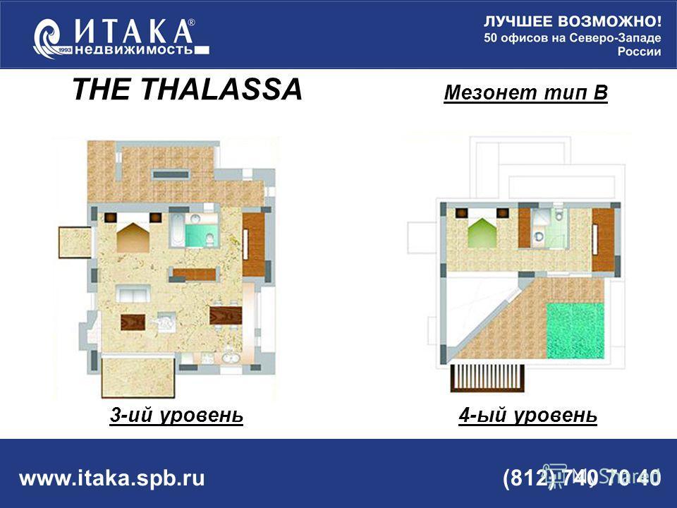 www.itaka.spb.ru (812) 740 70 40 THE THALASSA Мезонет тип В 3-ий уровень 4-ый уровень