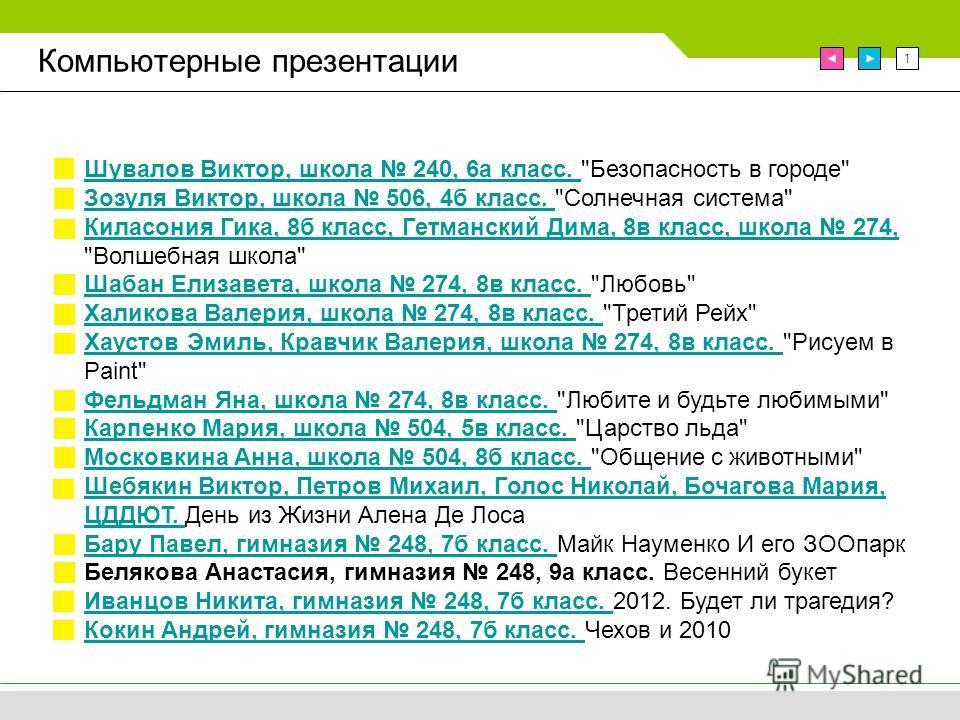 1 Компьютерные презентации Шувалов Виктор, школа 240, 6а класс. Шувалов Виктор, школа 240, 6а класс.
