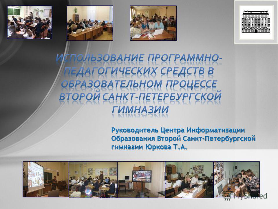 Руководитель Центра Информатизации Образования Второй Санкт-Петербургской гимназии Юркова Т.А.