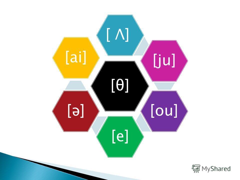[θ] [ Λ] [ju][ou][e][ə][ai]