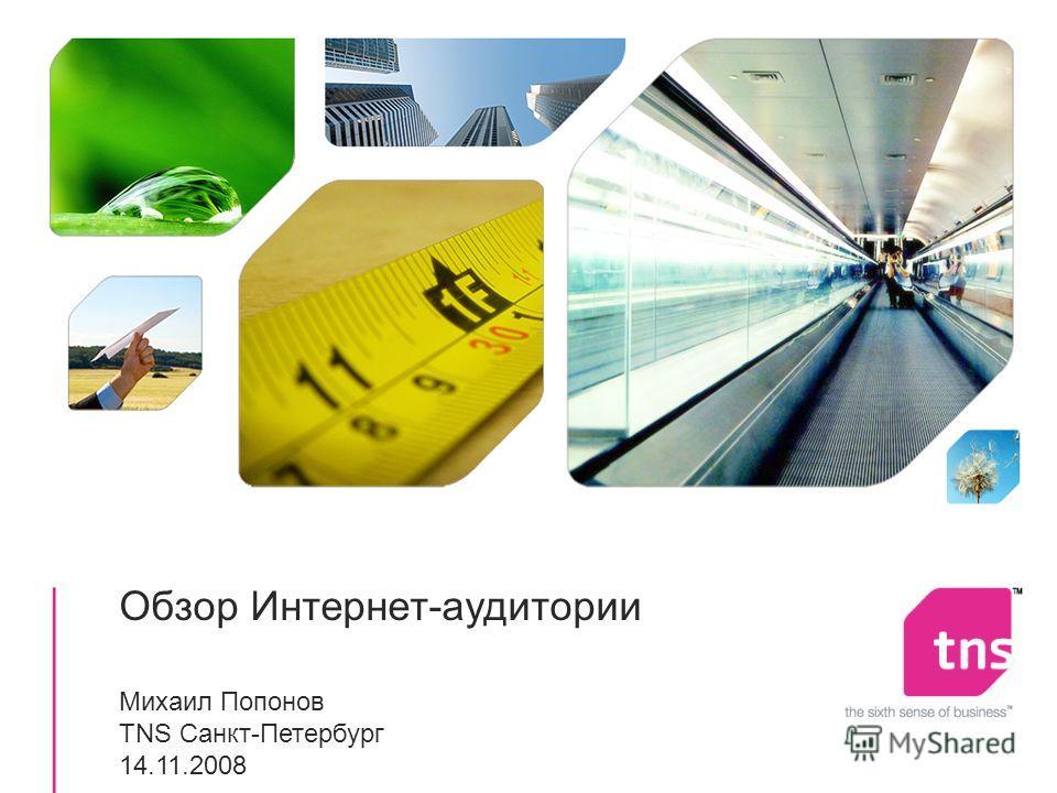 Обзор Интернет-аудитории Михаил Попонов TNS Санкт-Петербург 14.11.2008