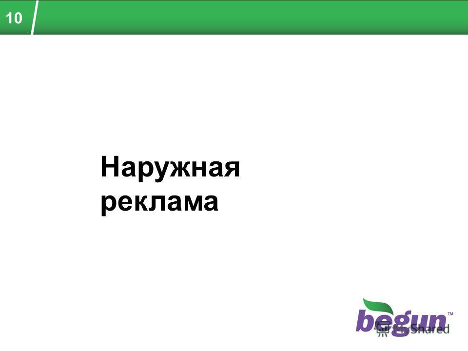 10 Наружная реклама