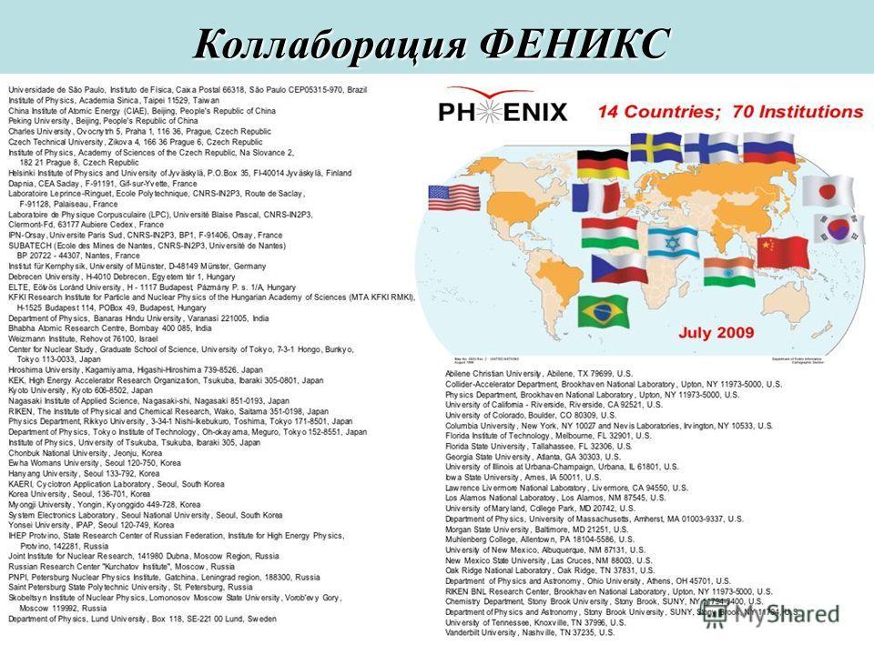 Сессия ОФВЭ 20094 Коллаборация ФЕНИКС