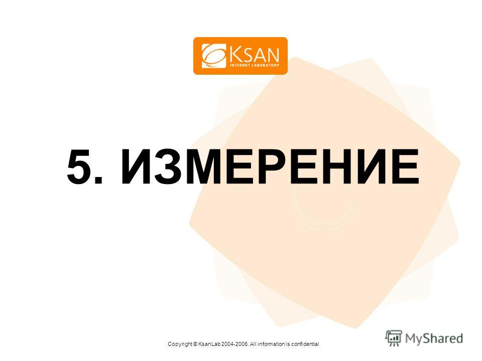 www.ksan.ru 5. ИЗМЕРЕНИЕ Copyright © KsanLab 2004-2006. All information is confidential