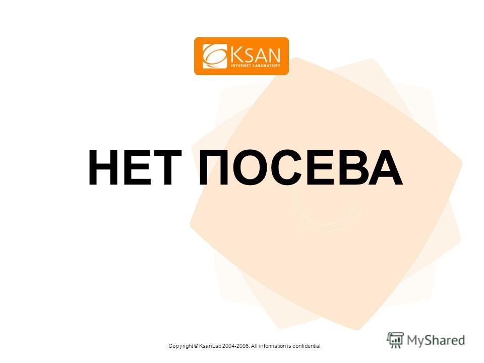 www.ksan.ru НЕТ ПОСЕВА Copyright © KsanLab 2004-2006. All information is confidential