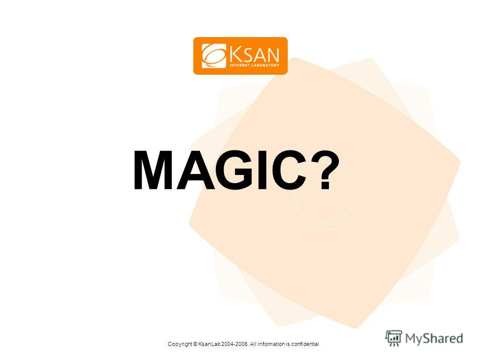www.ksan.ru MAGIC? Copyright © KsanLab 2004-2006. All information is confidential