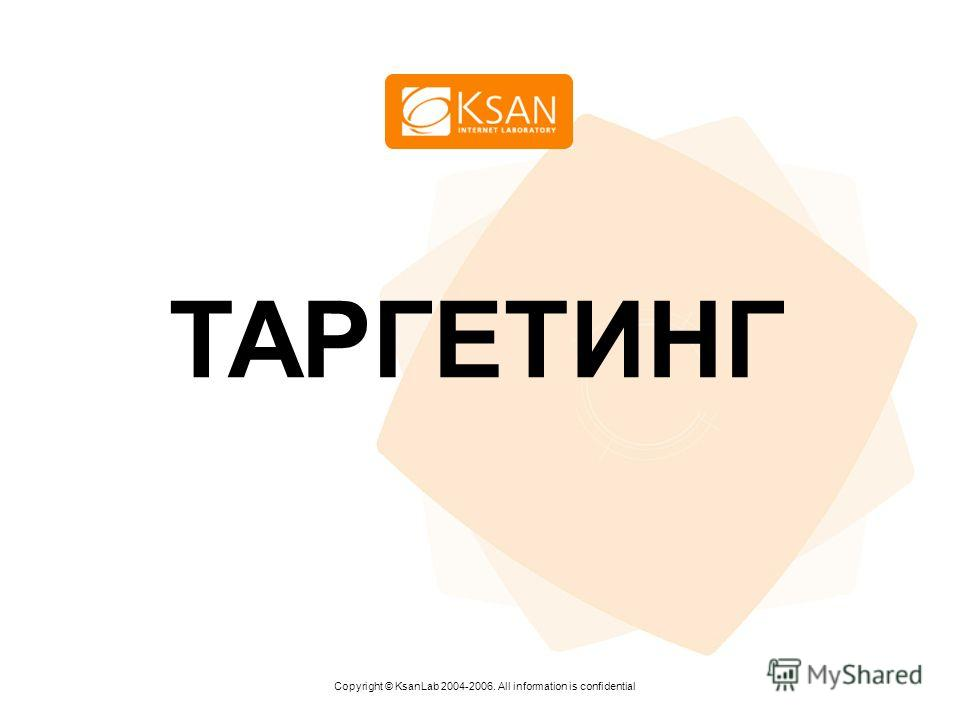 www.ksan.ru ТАРГЕТИНГ Copyright © KsanLab 2004-2006. All information is confidential