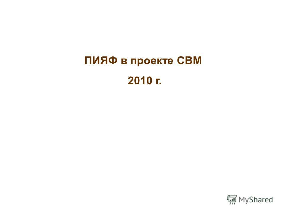 ПИЯФ в проекте CBM 2010 г.