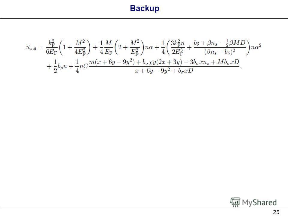 25 Backup