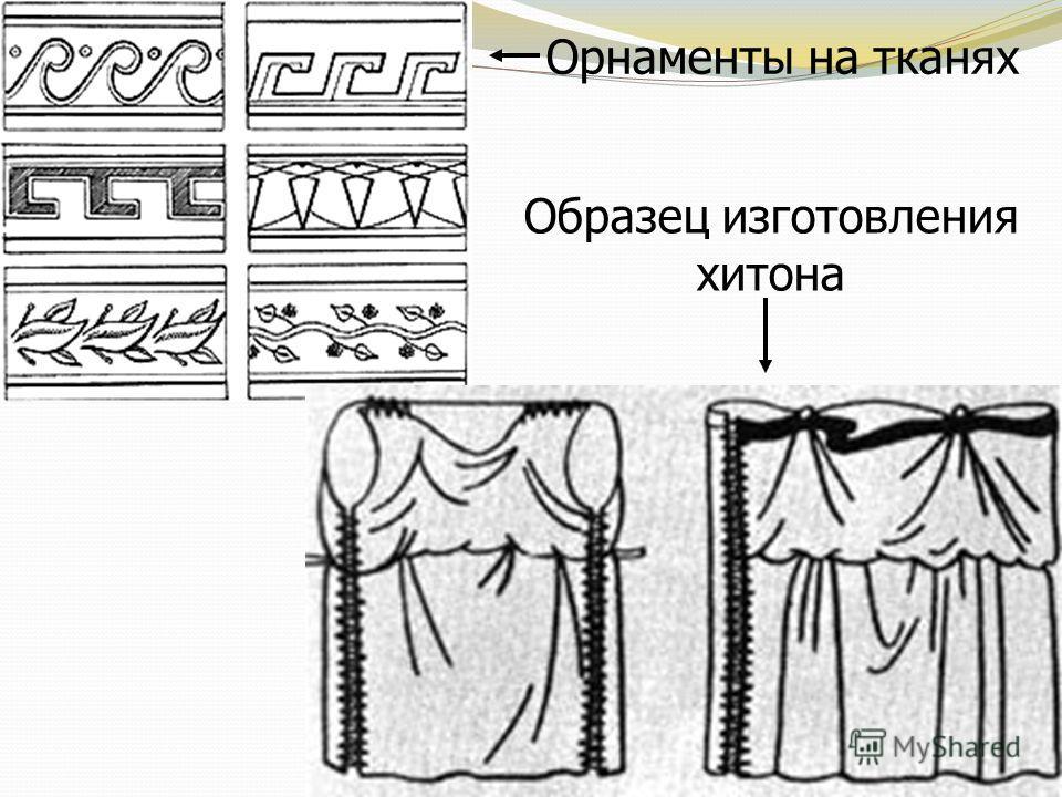 Орнаменты на тканях Образец изготовления хитона
