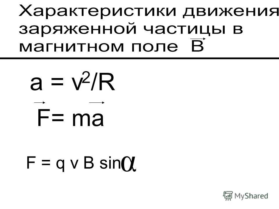 F = q v B sin
