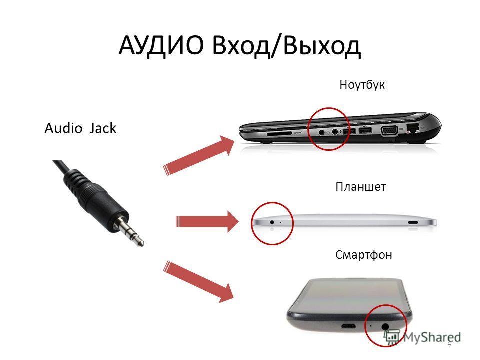 АУДИО Вход/Выход Ноутбук Планшет Смартфон Audio Jack 4