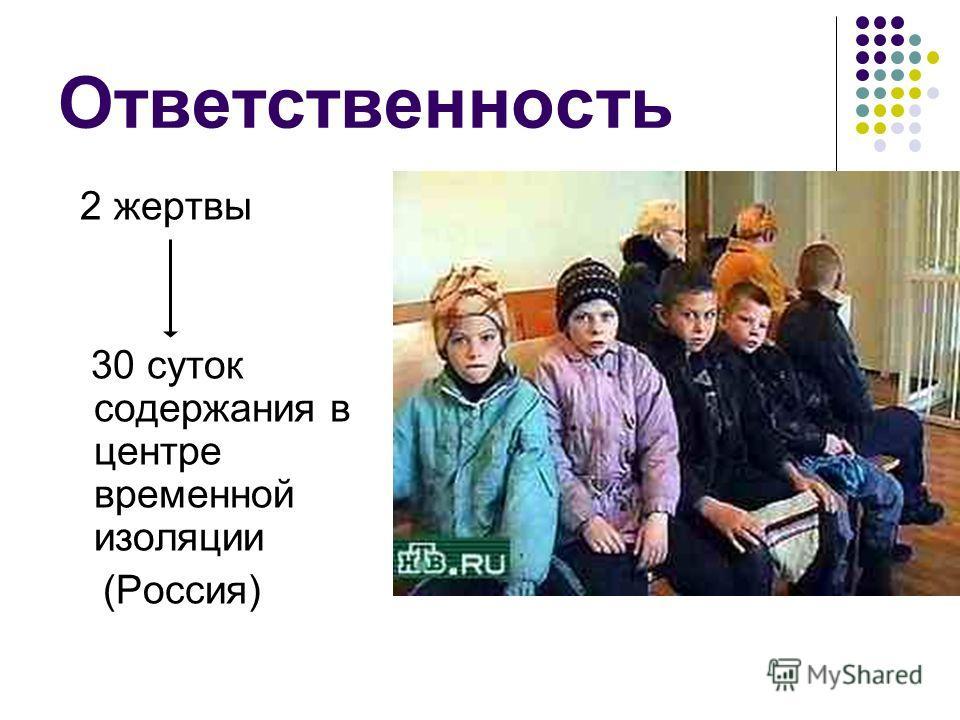 Ответственность 2 жертвы 30 суток содержания в центре временной изоляции (Россия)