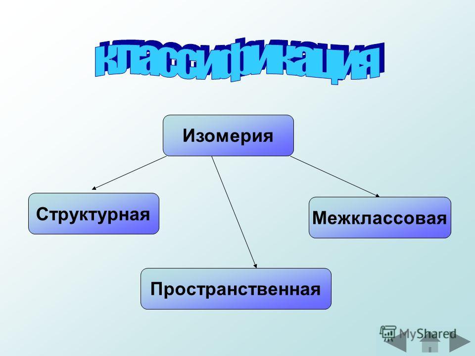 Изомерия Структурная Пространственная Межклассовая