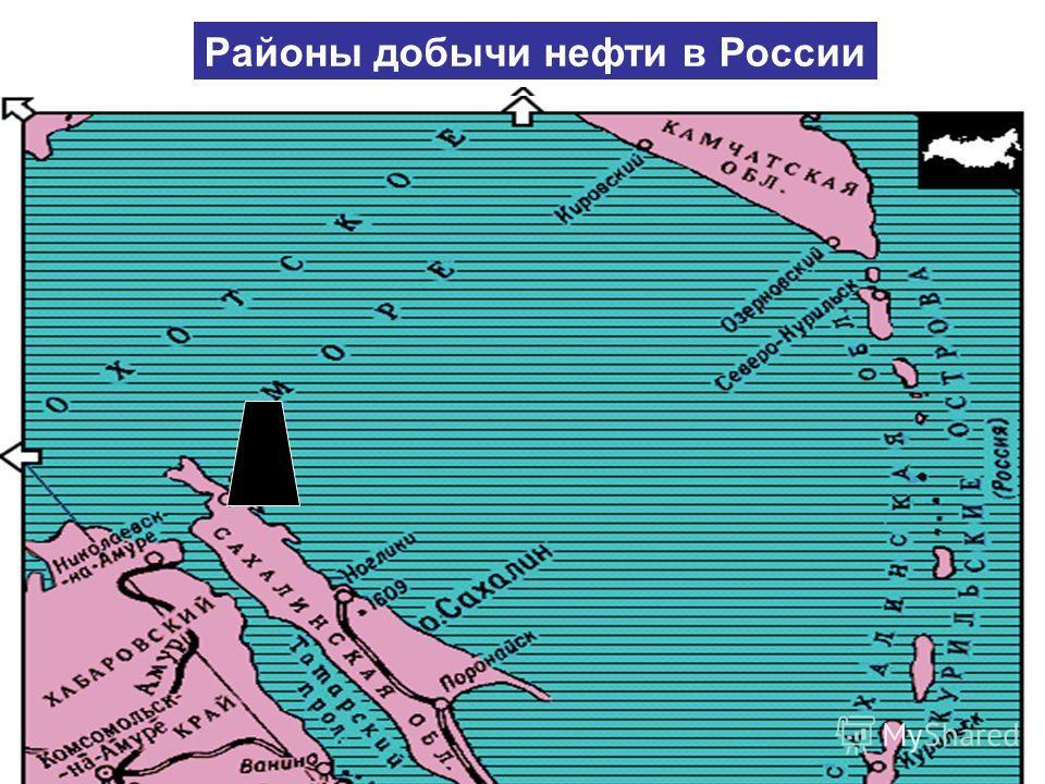 Печорский бассейн Районы добычи нефти в России Урало-Поволжье Западная Сибирь 80% Северный Кавказ