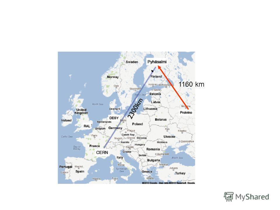 1160 km