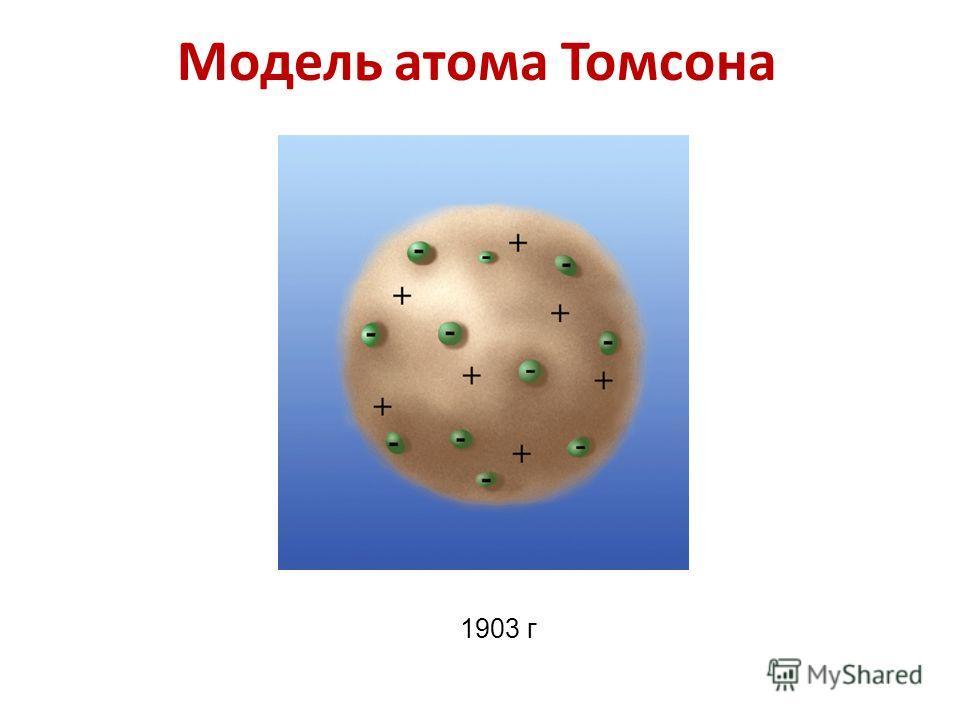 Модель атома Томсона 1903 г