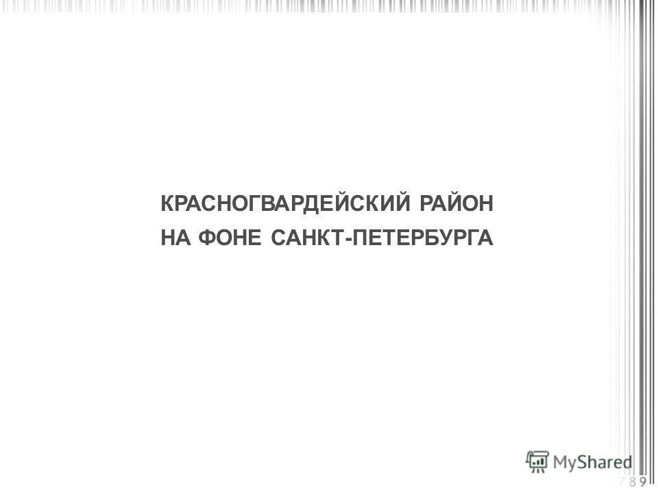 КРАСНОГВАРДЕЙСКИЙ РАЙОН НА ФОНЕ САНКТ-ПЕТЕРБУРГА