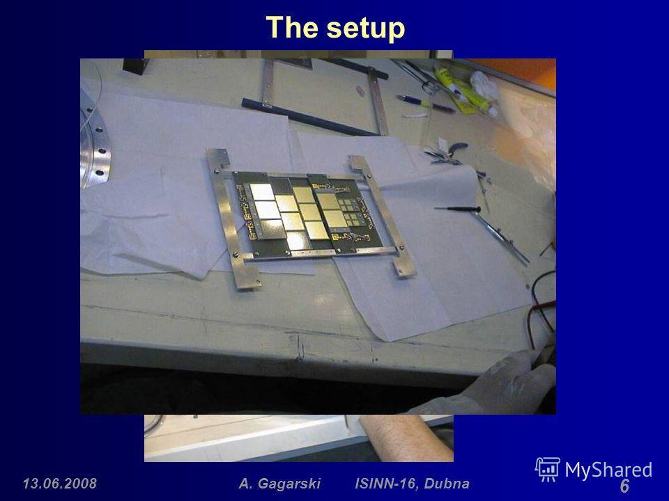 13.06.2008A. Gagarski ISINN-16, Dubna 6 The setup