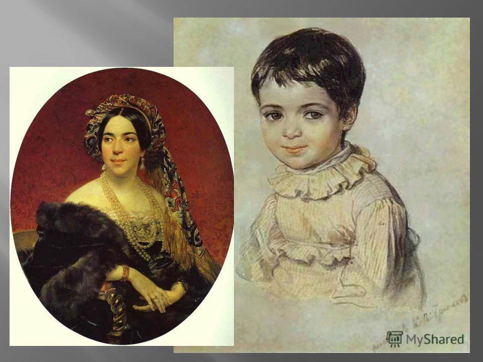 М.Кикина в детстве. 1817 акварель М.Кикина в детстве. 1817 акварель
