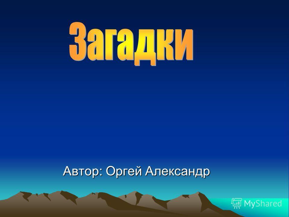 Автор: Оргей Александр