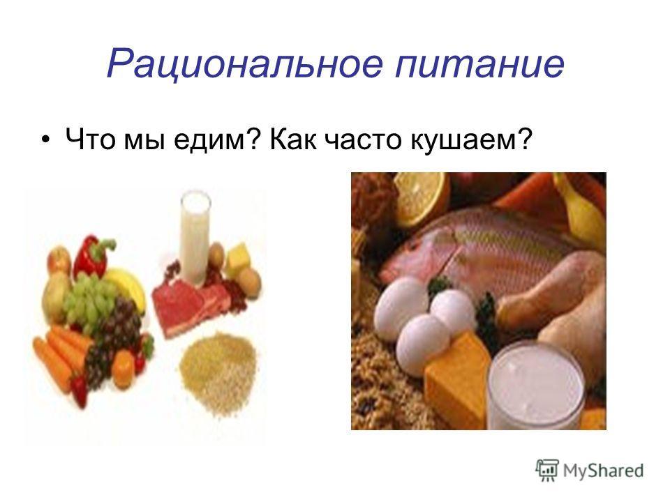 Рациональное питание Что мы едим? Как часто кушаем?