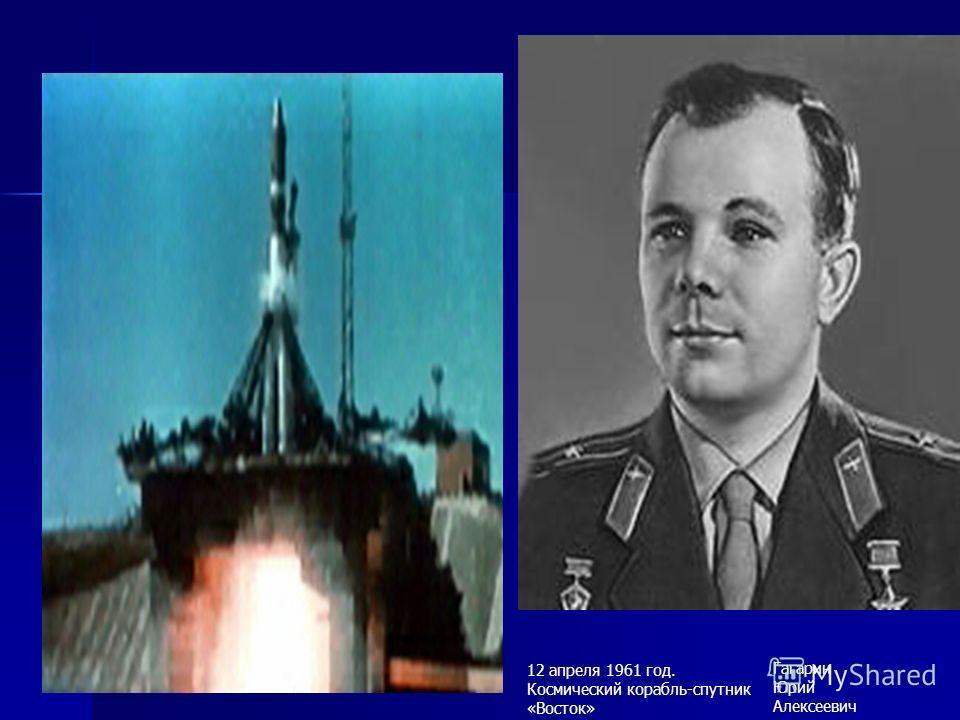 12 апреля 1961 год. Космический корабль-спутник «Восток» Гагарин Юрий Алексеевич