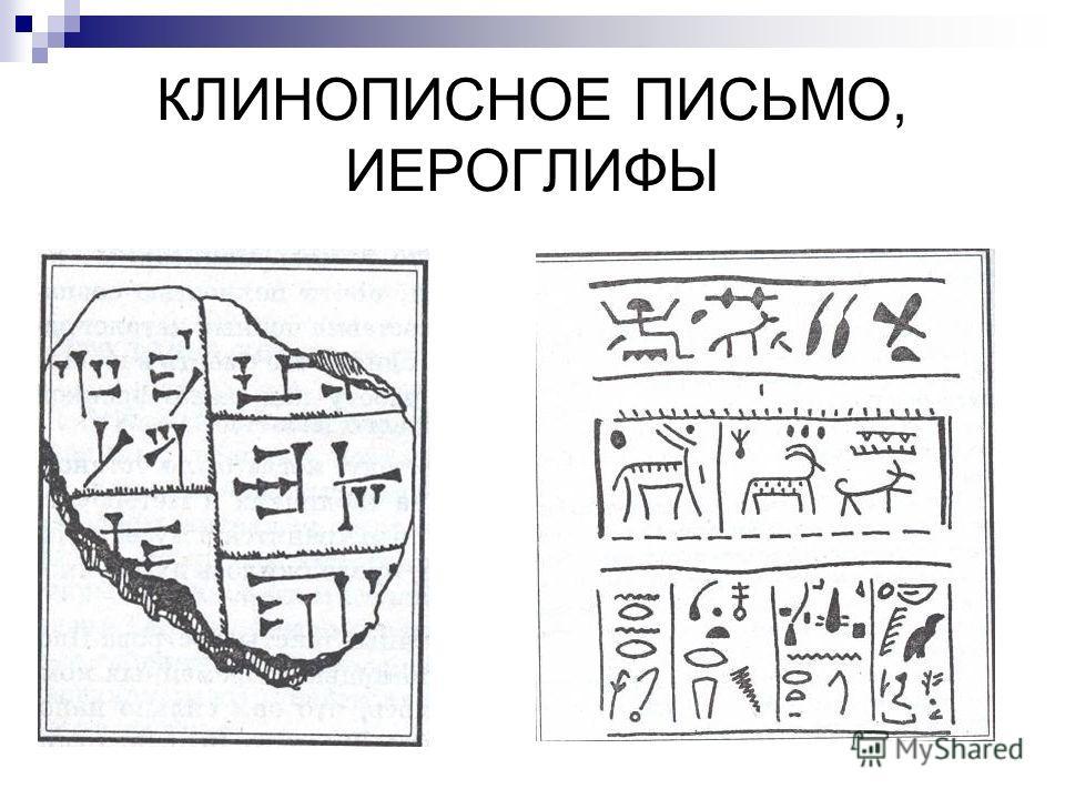 КЛИНОПИСНОЕ ПИСЬМО, ИЕРОГЛИФЫ